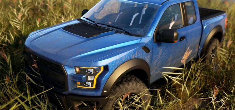 Ford Raptor Blue Truck Mod for GTA V