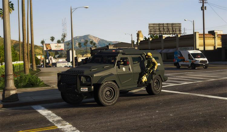 SAHP SWAT Insurgent for GTA5