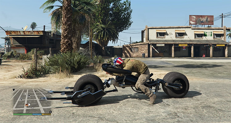 Batpod Dark Knight bike - GTA5 Mod