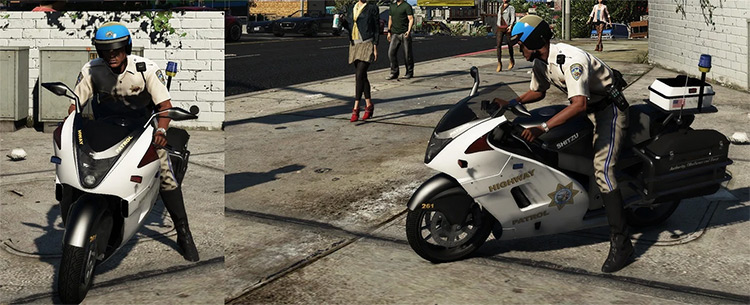 Custom Police Motorcycle Mod for GTA5
