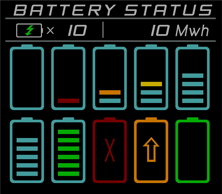 Battery Status Script for Space Engineers