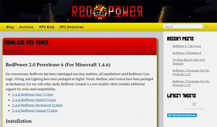 Red Power 2 - Minecraft Mod