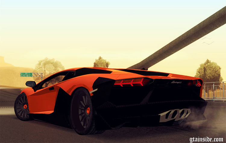 Lamborghini Aventador Modded for San Andreas