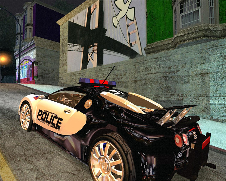 Bugatti Veyron for the SFPD - San Andreas