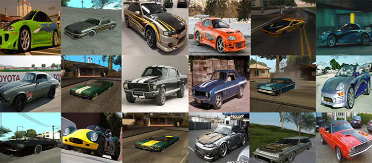 Fast and Furious V3 - Cars Mod San Andreas