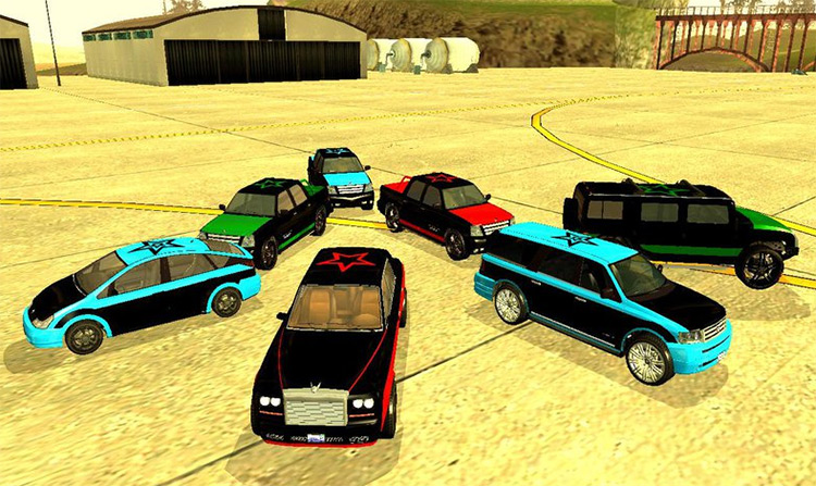 Saints Row 3 Gang Vehicles Mod
