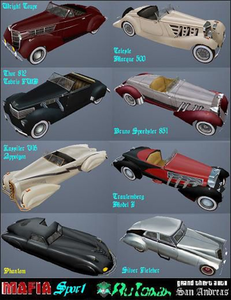 Mafia Sport Pack - San Andreas Mod