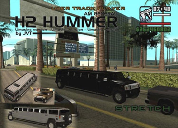H2 Hummer Limo Mod for San Andreas