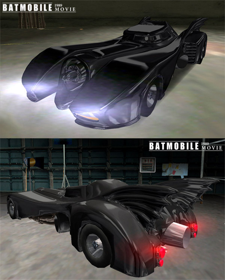 Batmobile Car Mod for GTA3