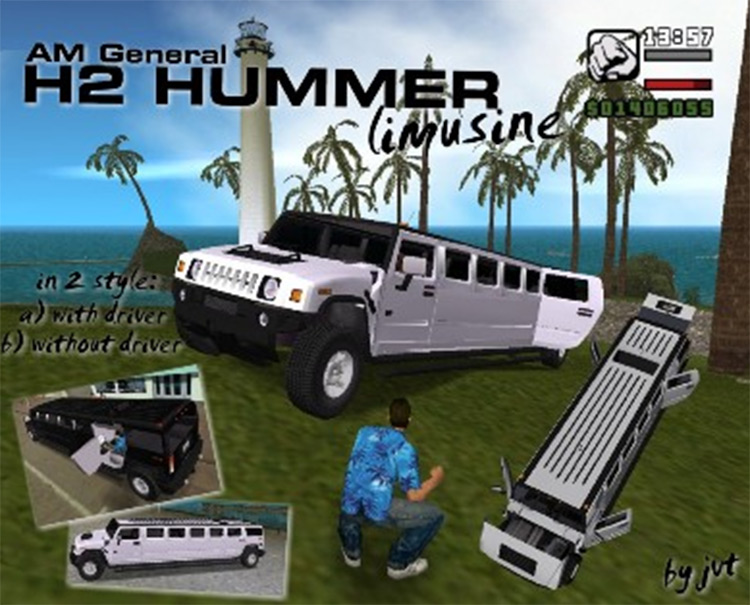 Hummer H2 Limousine car mod for GTA3