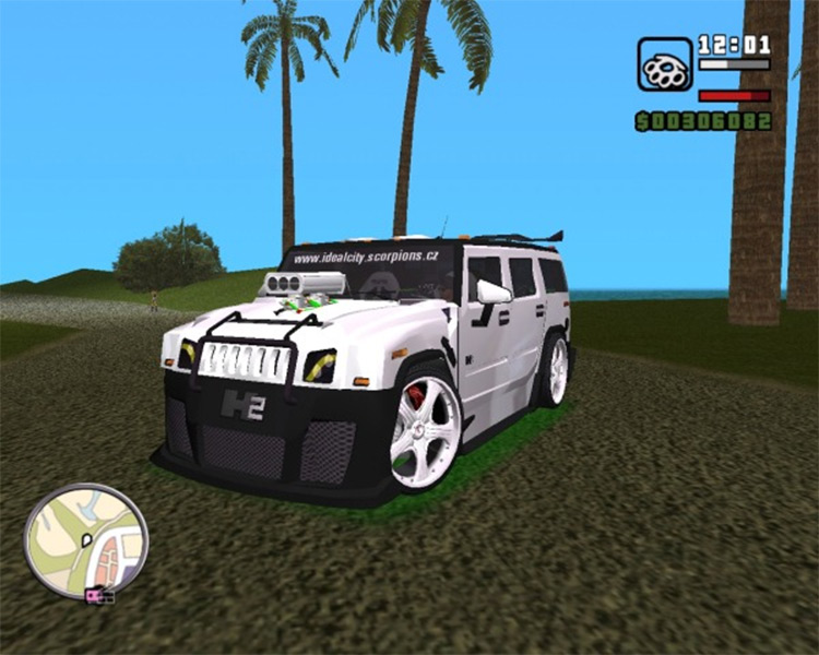 AMG H2 Hummer Tuning car in GTA3