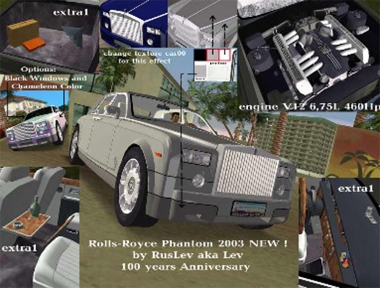Rolls Royce Phantom 2003 car in GTA3