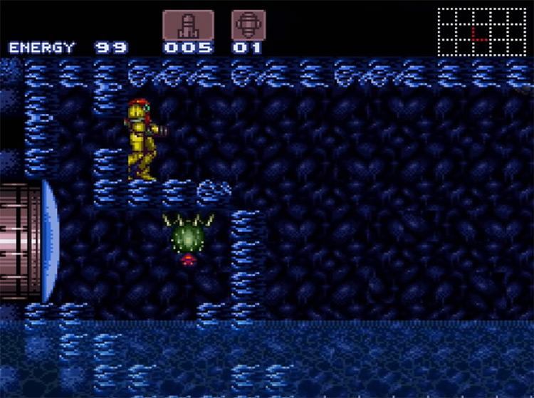 Super Metroid Containment Chamber Screenshot