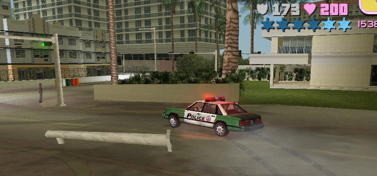Vice City - Driving Police Car, Handling mod Preview