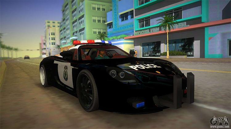 Porsche Carrera GT Police - Vice City Mod