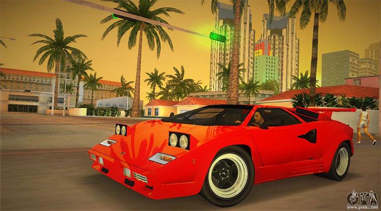 Lamborghini Countach LP5000 Vice City Mod