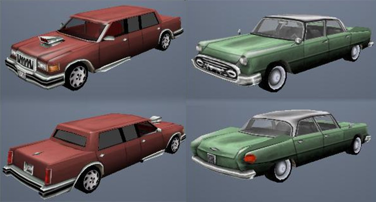 Vice City Beta Collection Cars Mod