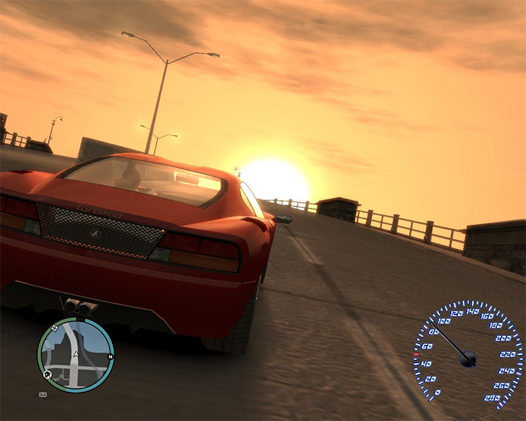Sunset Screenshot - Realistic Driving and Flying in GTA4