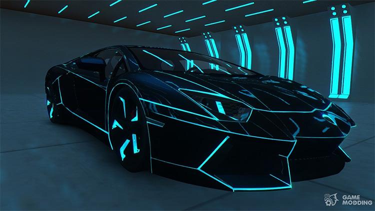 Lamborghini Aventador TRON Theme - GTA4 Mod