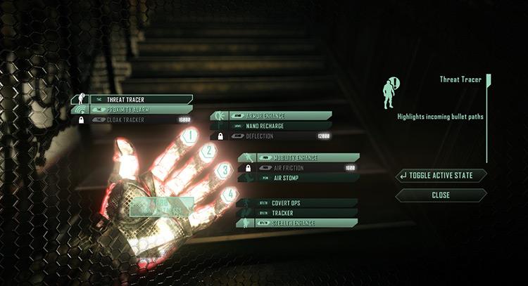 The ShadowSuit Crysis 2 Mod menu screenshot