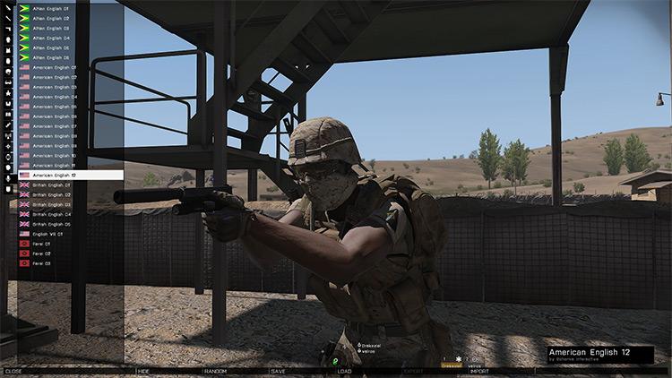 Personal Arsenal Arma 3 Mod menu screenshot