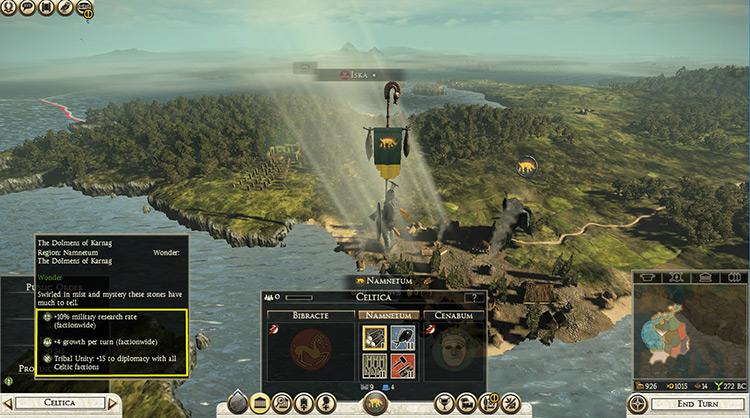 Wonders of the Ancient World Mod - TWR2 menu screenshot