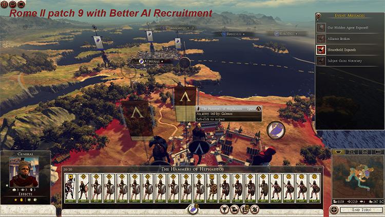 Better AI Recruitment Total War Rome II Mod screenshot