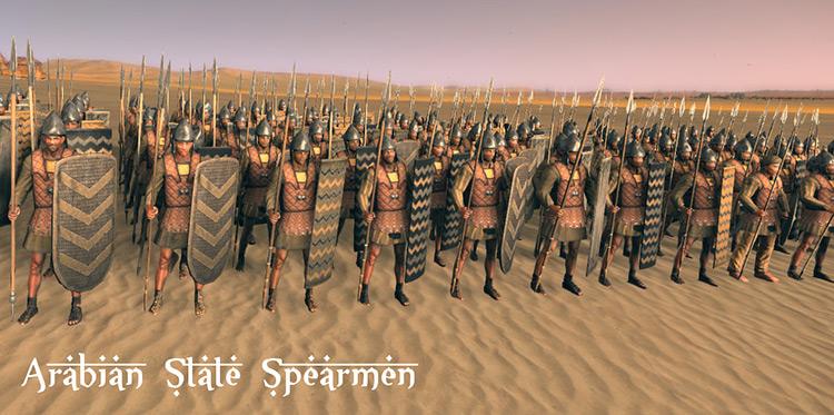Arabian Spearmen - Forgotten Factions Unit Compilation Mod
