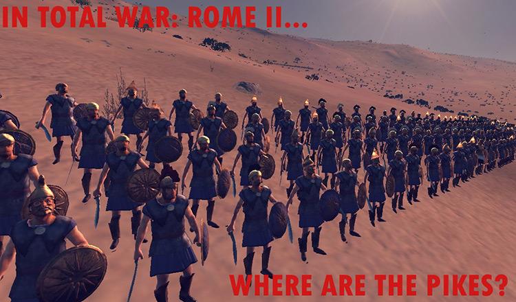 Pikemen Start Battles With Pikes Total War Rome II Mod