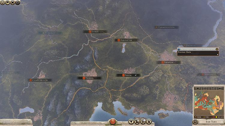 Campaign Camera Total War Rome II Mod screenshot