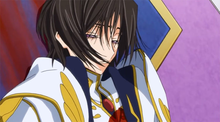 Death of Lelouch in Code Geass Anime