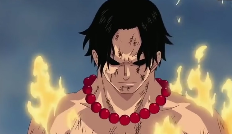 Angry Portgas D. Ace in Flames - One Piece
