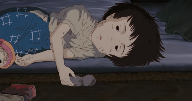 Death of Setsuko in Grave Of The Fireflies Anime