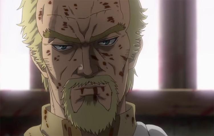 Askeladd in battle - Vinland Saga Anime
