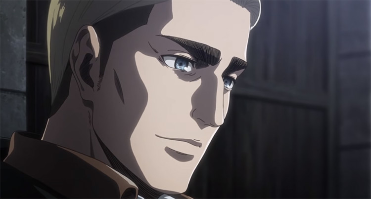 Erwin Smith in Attack on Titan screenshot