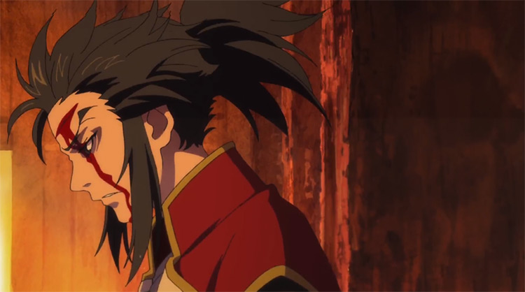 Tahoumaru wounded in battle - Dororo Anime