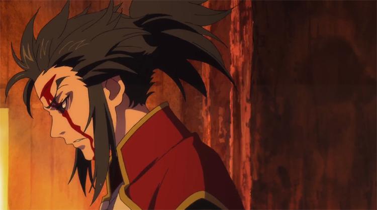 Tahoumaru wounded in battle - Dororo Anime