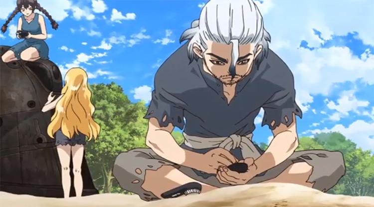 Byakuya Ishigami in Dr. Stone Anime