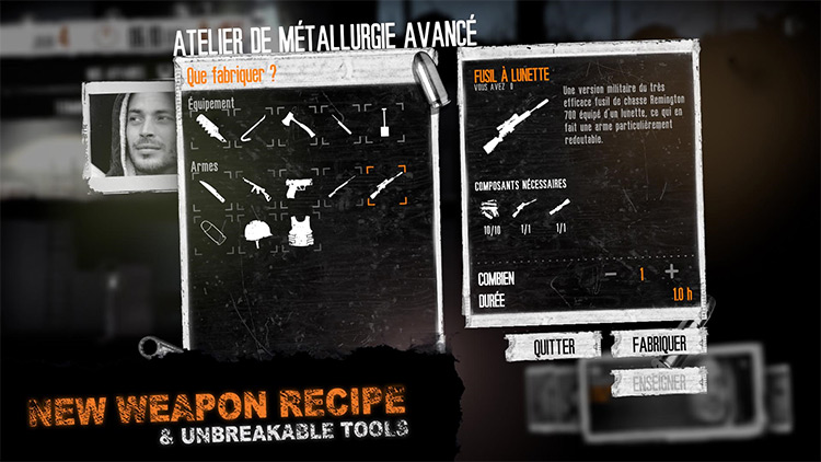 New weapon recipe in Crafting Overhaul Extended Mod