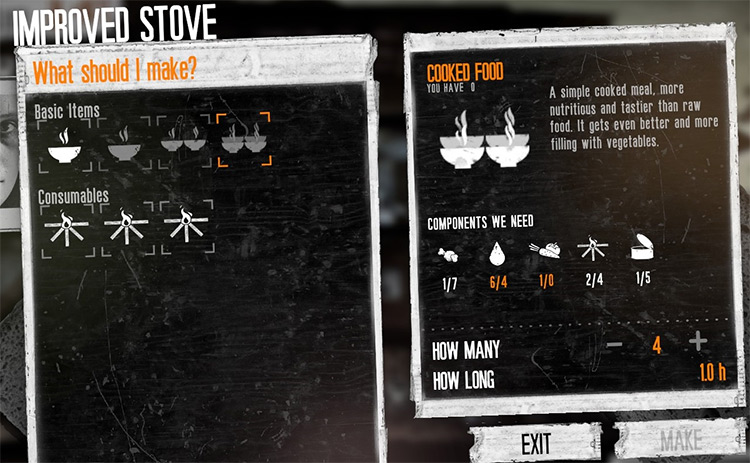 Large Cooked Food Recipe - This War Of Mine Mod