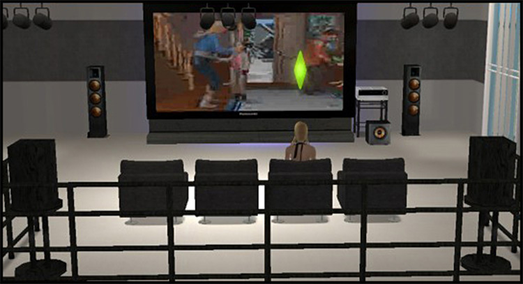 Home Cinema TV for Sims 4