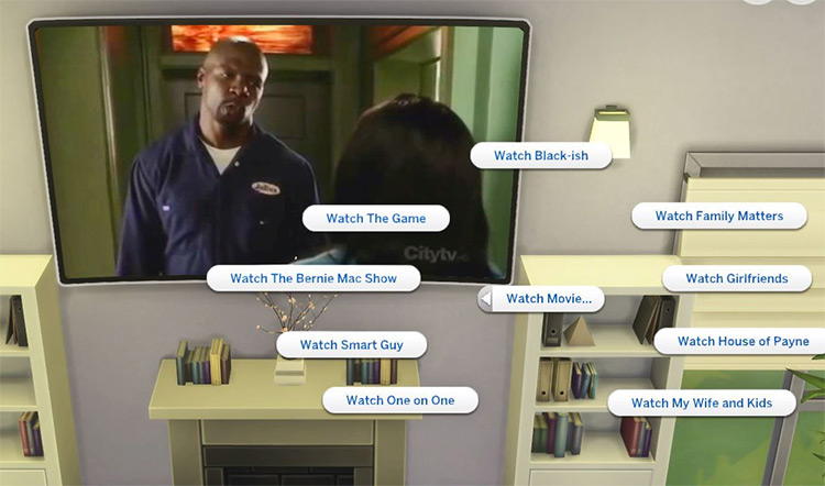 Black TV Sitcoms Mod for Sims 4