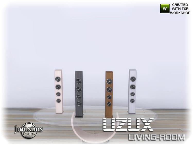 Uzux Living Room Audio Set - Sims 4 CC