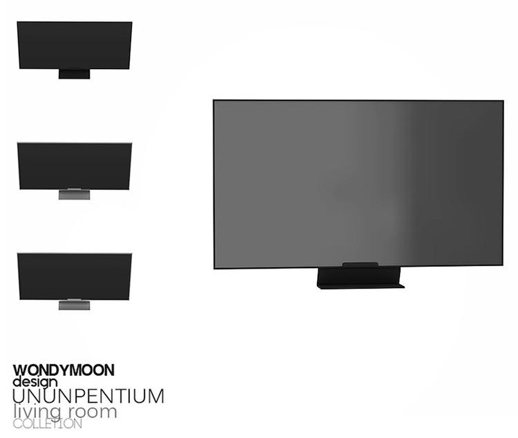 Ununpentium TV - Television CC for The Sims 4
