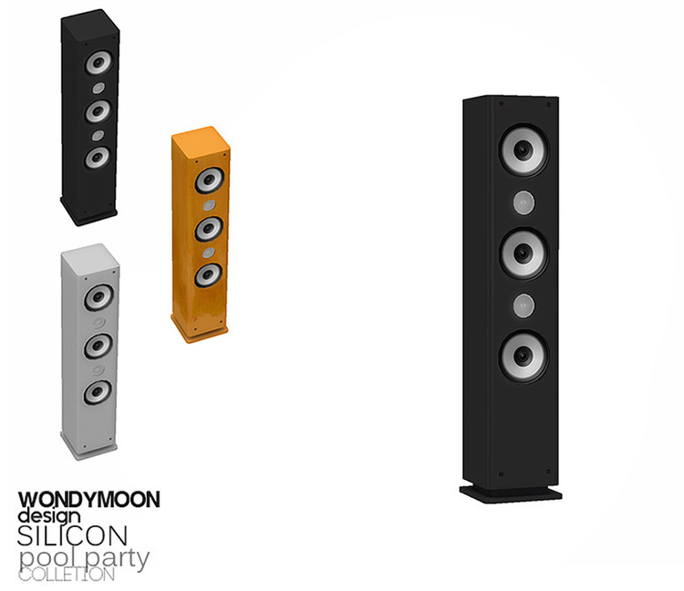Silicon Speakers for Sims 4