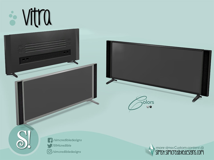 Vitra TV - widescreen TV for The Sims 4
