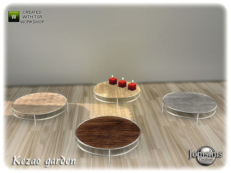 Kezao garden circular coffee tables CC