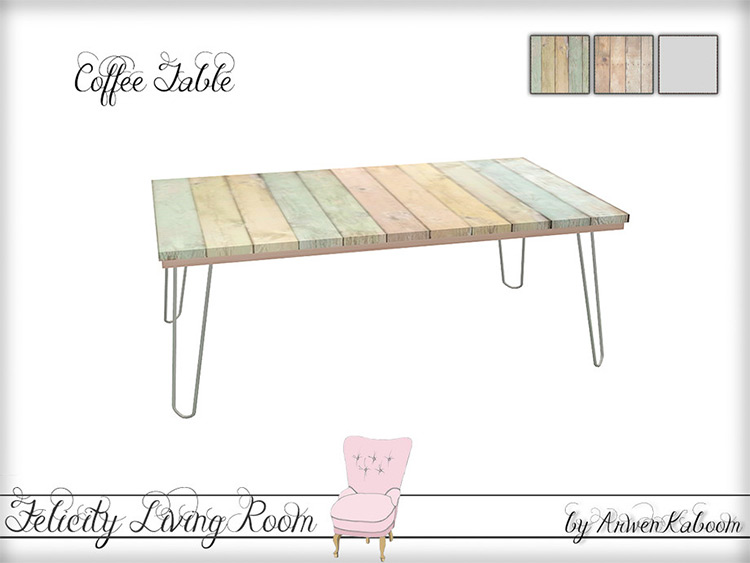 Colorful pastels coffee table CC TS4