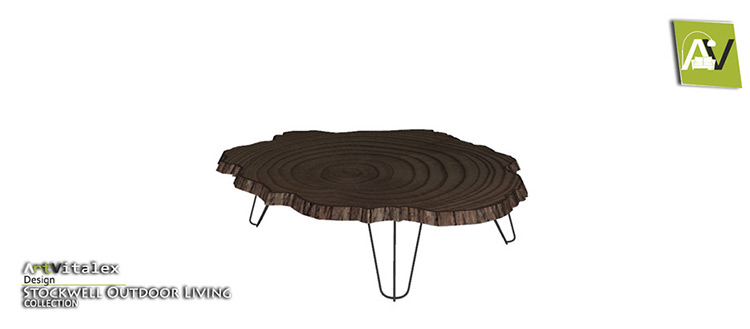 Wood Slab Coffee Table CC