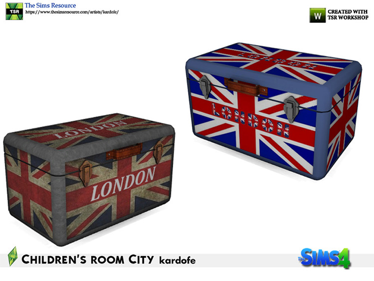 London luggage box - Sims4 coffee table CC